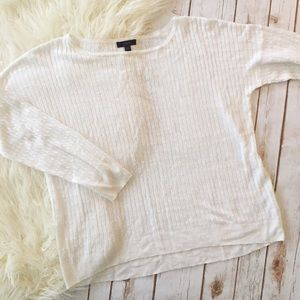 J. Crew white lightweight cable knit sweater